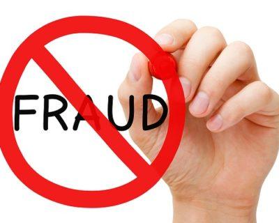 red line through Fraud